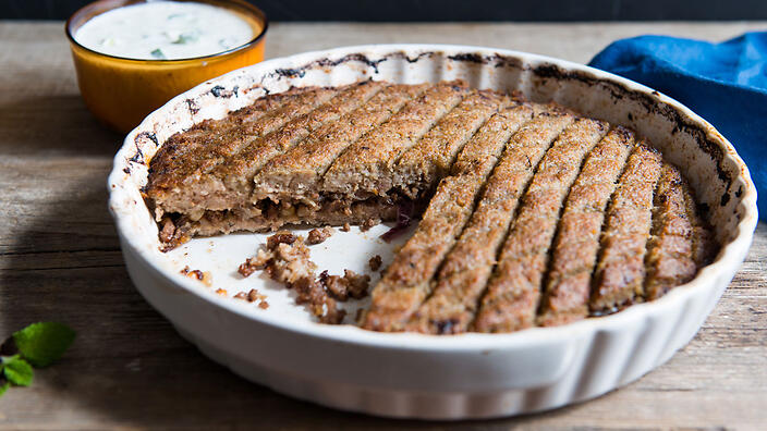 Baked kibbeh kibbeh bil sayneeyeh recipe sbs food forumfinder Image collections