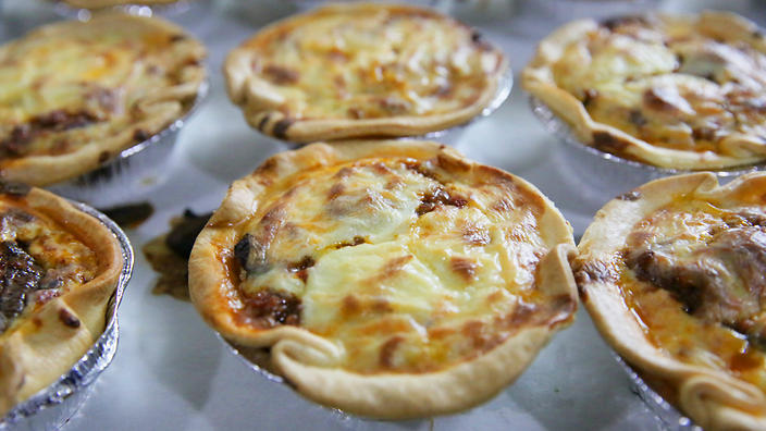 The moussaka pie at Alevri is inspired by the Aussie appetite for meat pies.