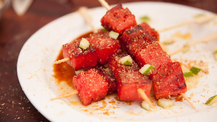 Chargrilled watermelon Ainsley Harriott