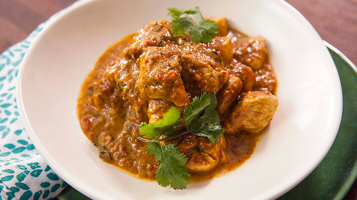 5-minute chicken curry