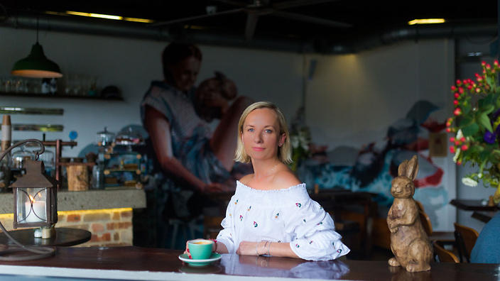 Polish-born Anna Allison pays tribute to her mother at her cafe, The Lion and Buffalo.