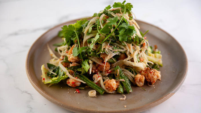 Unplated Asia with Diana Chan prawn larb