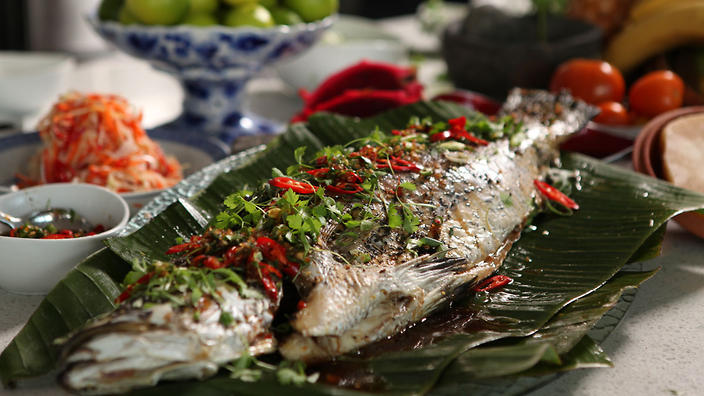 whole barramundi