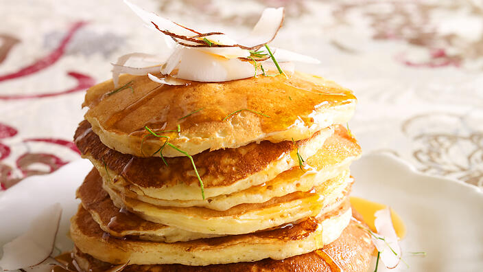 ... with fresh coconut and kaffir lime maple syrup recipe : SBS Food