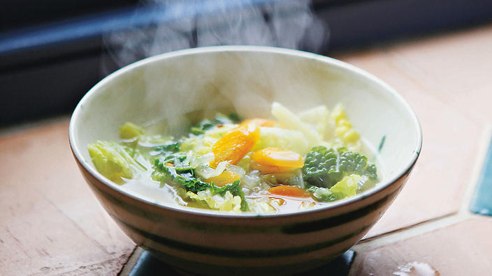 Carrot Cabbage broth