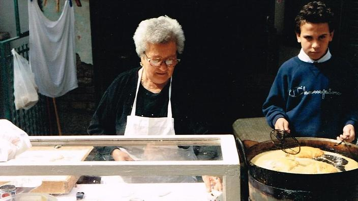 Nonna Rosa taught Esposito how to make pizza when he was 11 years old.