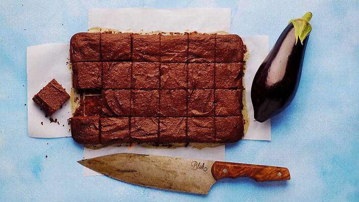 Chocolate eggplant brownie from Clever Guts Diet