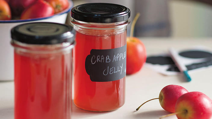 Crabapple and port jelly
