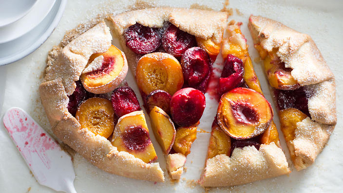 Late Summer Stone Fruit Cobbler, With Plums, Plouts And Peaches ...