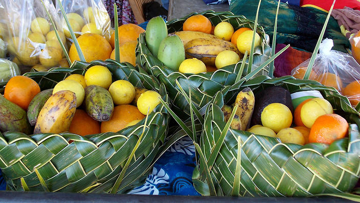 Fruit at market in New Caledonia