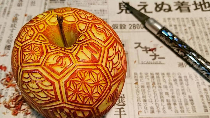 the internet is in love with these intricate fruit carvings sbs food
