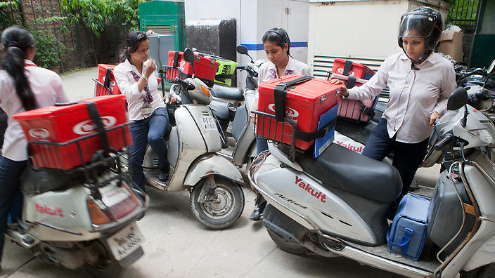 Yakult delivery in India