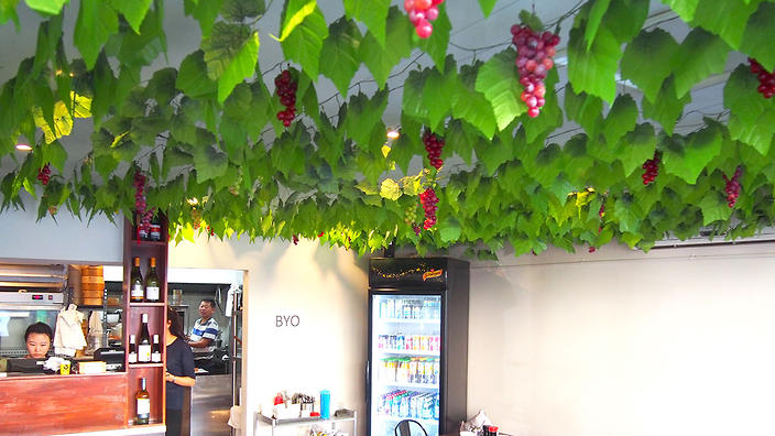Grapevines symbolise the Dumpling House's Northern Chinese roots.