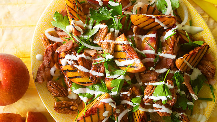 American grilled peach salad forumfinder Image collections