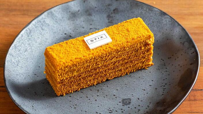 The Stix version of the honey cake is incredibly labour-intensive to make.