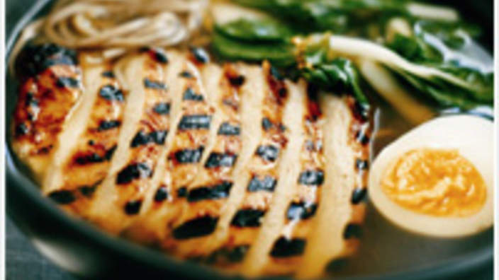 Chargrilled Chicken Soba And Miso Soup Recipe Sbs Food