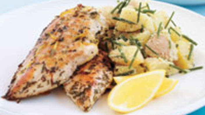 Lemon garlic and rosemary chicken recipe sbs food recipe finder forumfinder Image collections