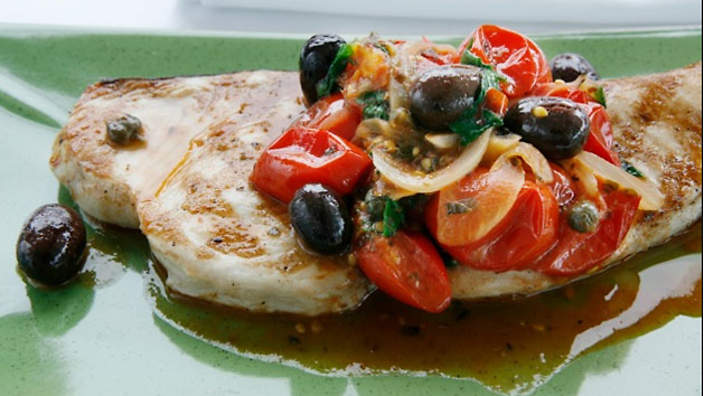 Swordfish Steak With Tomato And Herbs Recipe Sbs Food