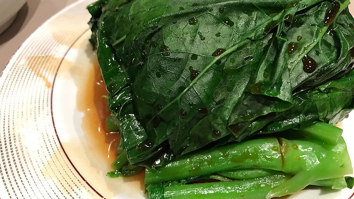 Chinese broccoli with oyster sauce (gai lan)