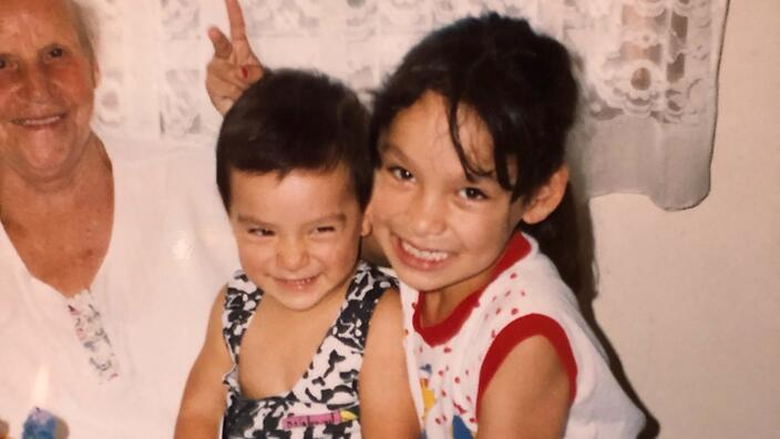 Kat and her younger brother