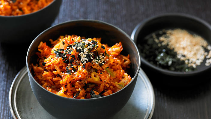 Kimchi fried rice korean recipes sbs food kimchi fried rice ccuart Image collections
