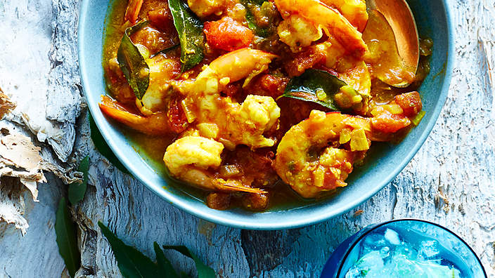 King prawn rougaille
