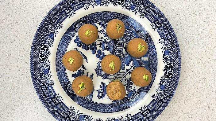 Ladoo on a plate