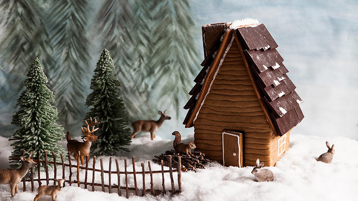 Gingerbread House Recipe Gingerbread Log Cabin
