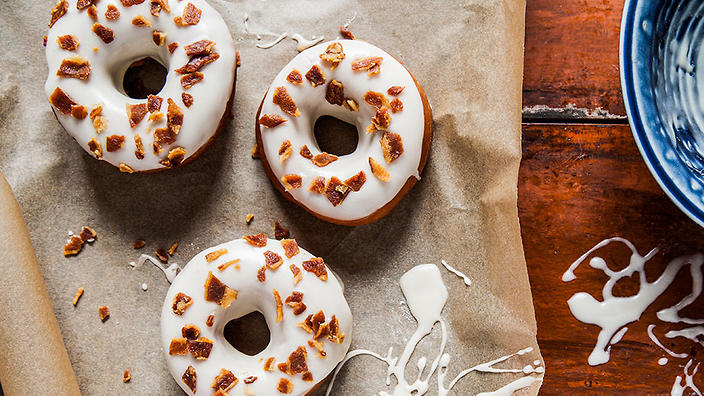 maple-glazed doughnuts