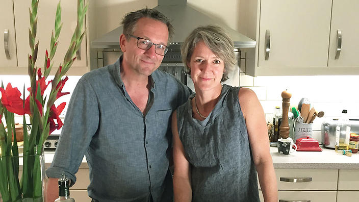 Michael Mosley and his wife Clare Bailey.