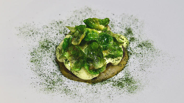 Brussels sprouts get an attractive makeover at Ormeggio at The Spit