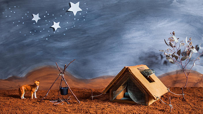 Gingerbread outback tent