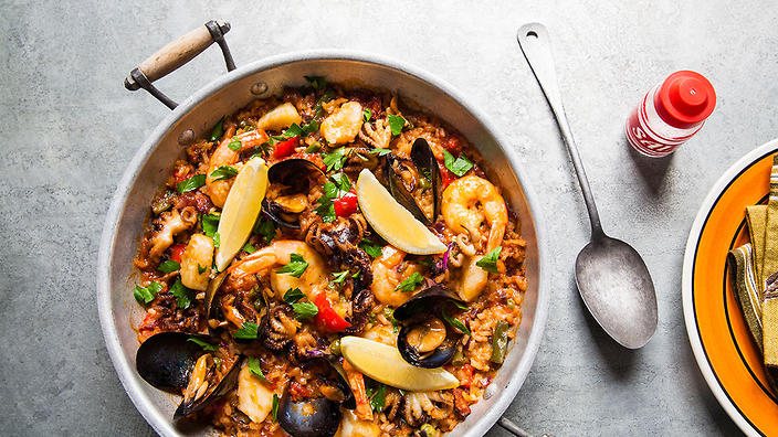 Spain's classic, Paella, is made using bomba rice.