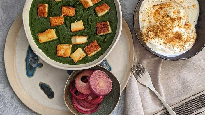 Palak paneer is representative of the food that Bhavna Kalra ate while growing up.
