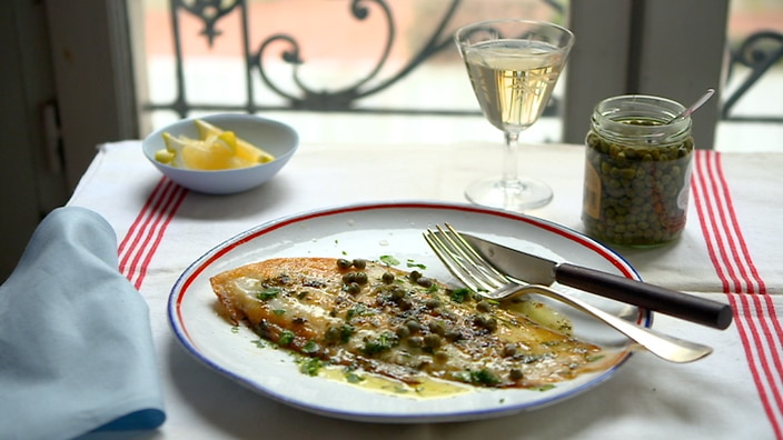 Fish with lemon and brown butter sauce recipe : SBS Food