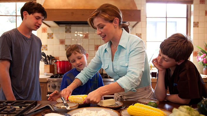 Pati Jinich with her sons