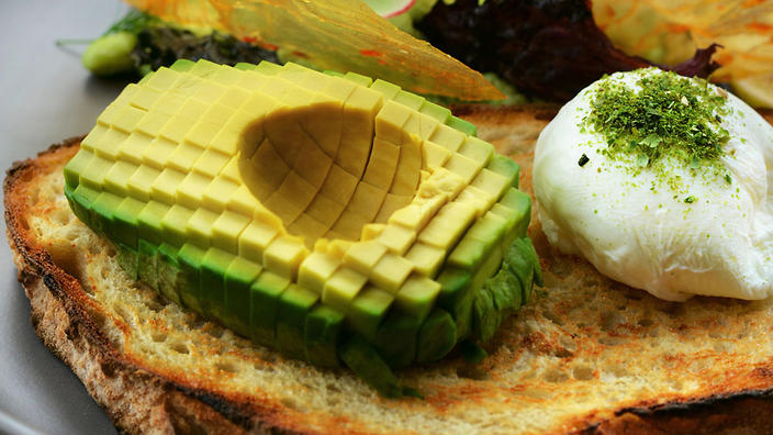 Melbourne's Light Years Cafe thinks pixel avocado is the next big trend out of social media. (Kseniia Koval)