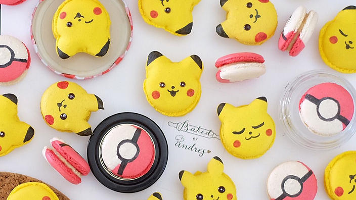 Pokemon macarons on getFoodi