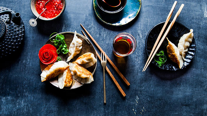 Pork and prawn potstickers