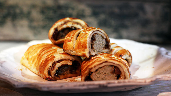 Paul Hollywood's sausage rolls