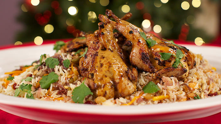 Marinated quail on jewelled rice indian recipes sbs food food network forumfinder Gallery