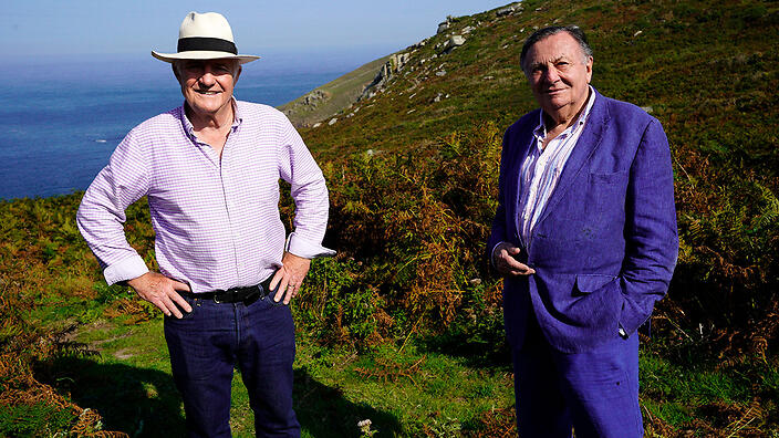 Rick Stein with Barry Humphries