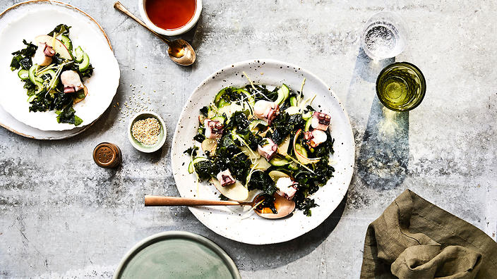 Wakame and octopus salad