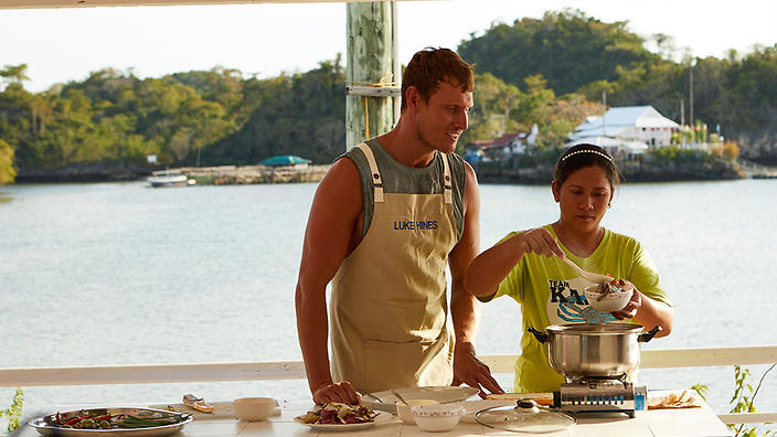 Luke Hines learns how to make a Filipino soup called sinigang