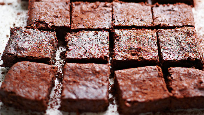 Double choc bean brownies