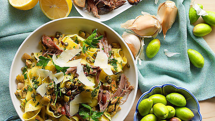Slow-cooked lamb pappardelle