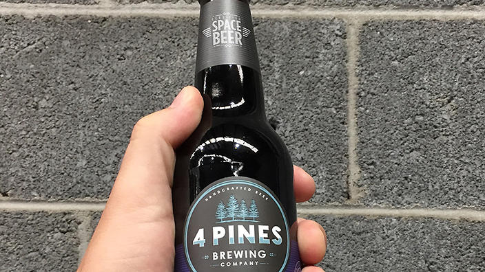 4 pines stout space beer