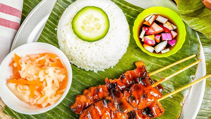 Filipino grilled meat skewers
