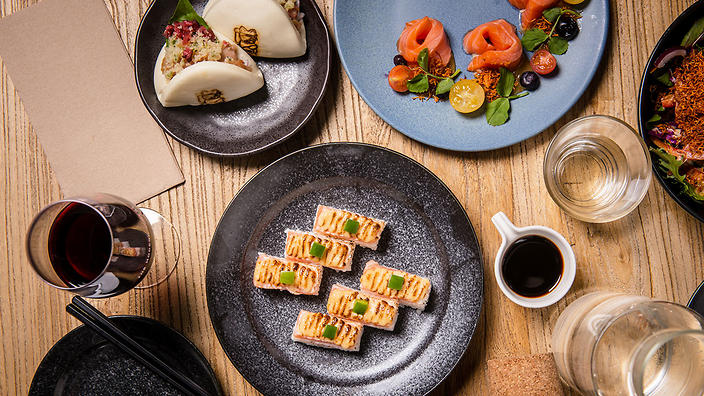 The Modern Eatery is is plating up Aburi wagyu beef with truffle salt and applying the technique to salmon and prawns.