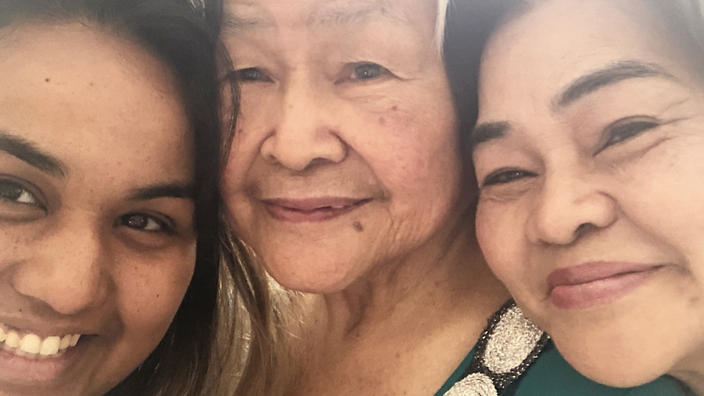 Melissa Fox (from left), her grandma and mum. The popular Filipino pancit bihon noodle dish is a family favourite.